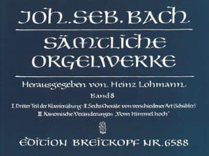 Sämtliche Orgelwerke Volume 8 BACH Partition Orgue - laflutedepan