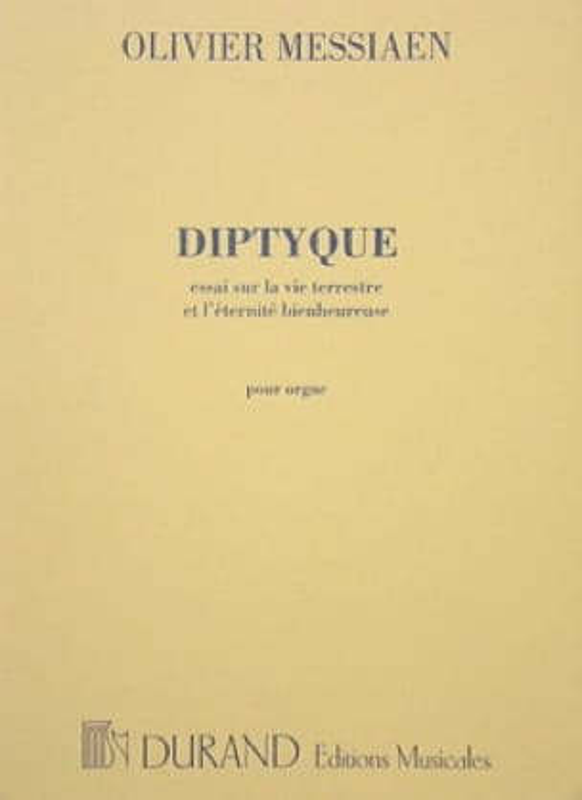 Diptyque - MESSIAEN - Partition - Orgue - laflutedepan.com