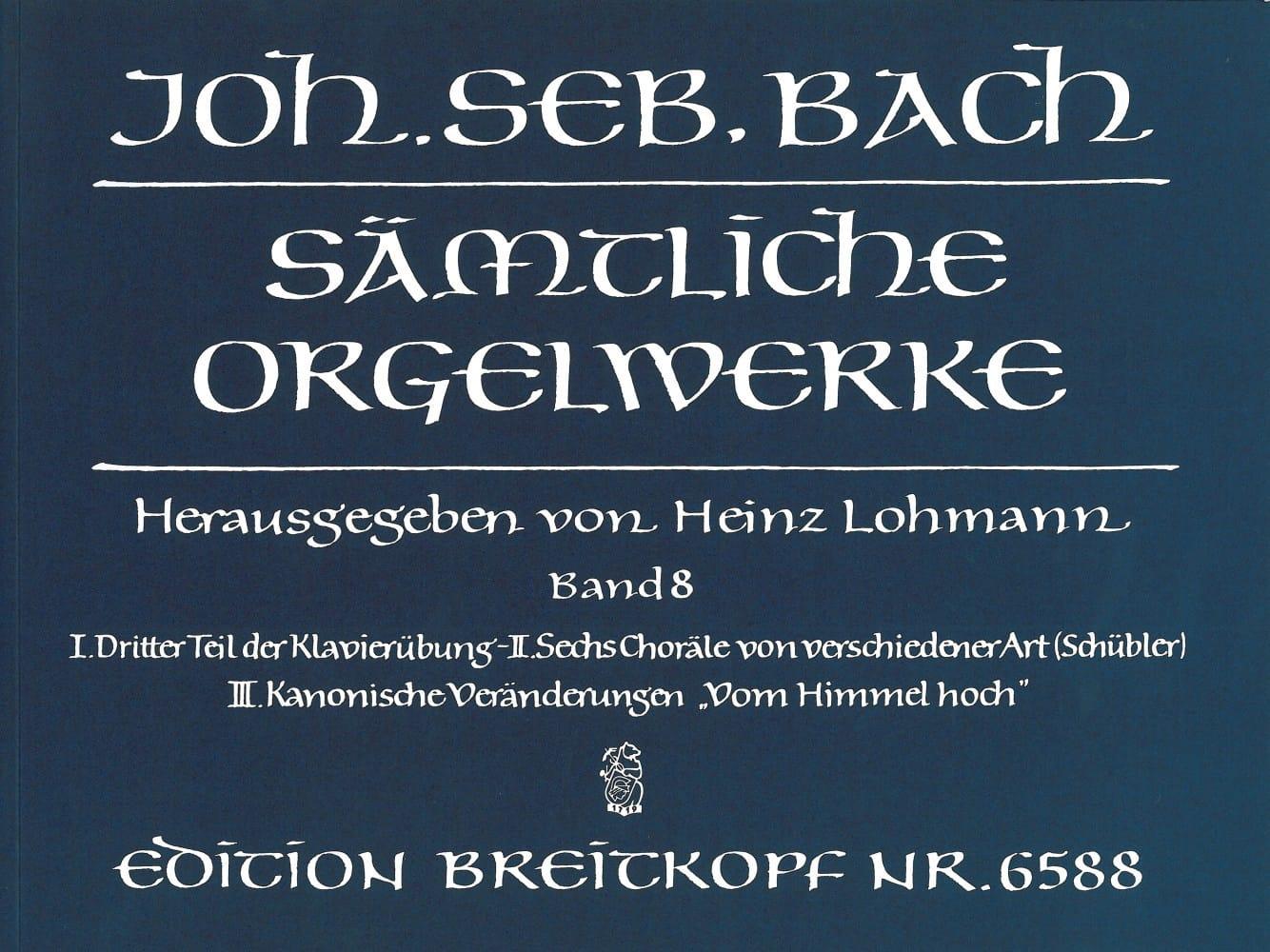 Sämtliche Orgelwerke Volume 8 - BACH - Partition - laflutedepan.com
