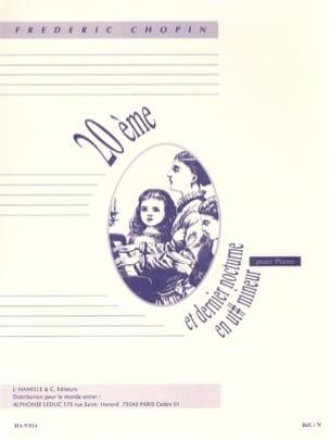 20ème Nocturne en Do dièse mineur CHOPIN Partition laflutedepan