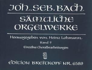 Sämtliche Orgelwerke Volume 9 BACH Partition Orgue - laflutedepan