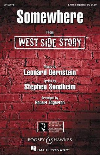 Somewhere. West Side Story. SATB - BERNSTEIN - laflutedepan.com