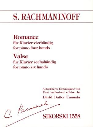 Romance 4 Mains et Valse 6 Mains RACHMANINOV Partition laflutedepan