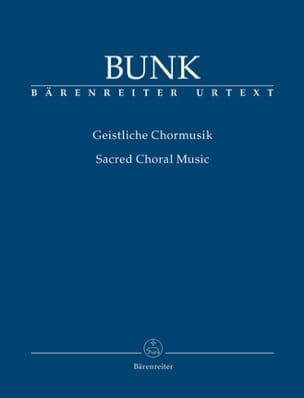 Geistliche Chormmusik - Gerard Bunk - Partition - laflutedepan.com
