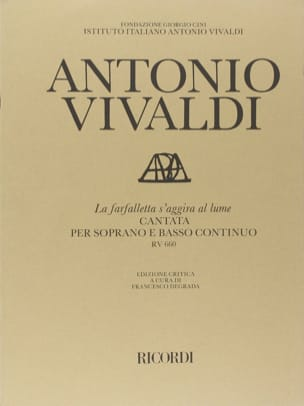 VIVALDI - The Farfalletta Regardgira Al Lume RV 660. - Partition - di-arezzo.com