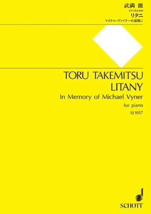 Litany TAKEMITSU Partition Piano - laflutedepan