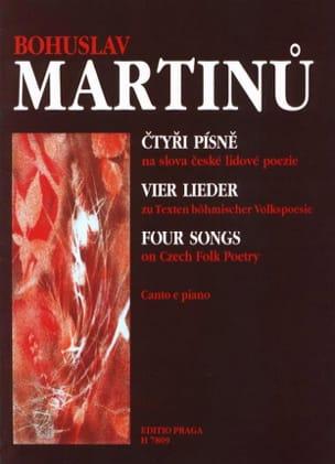 4 Chants sur des Poésies Populaires Tchèques MARTINU laflutedepan