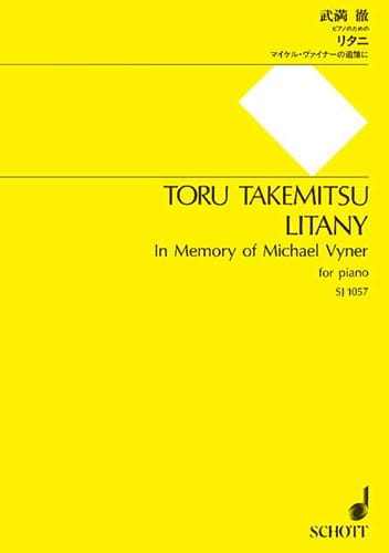 Litany - TAKEMITSU - Partition - Piano - laflutedepan.com