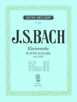 Suiten. Volume 23 BACH / BUSONI Partition Piano - laflutedepan