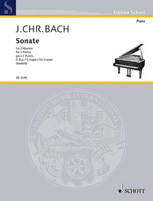 Sonate En Sol Majeur. 2 Pianos Johann Christian Bach laflutedepan