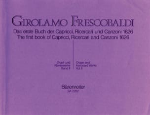 Orgel Und Klavierwerke. Band 2 FRESCOBALDI Partition laflutedepan
