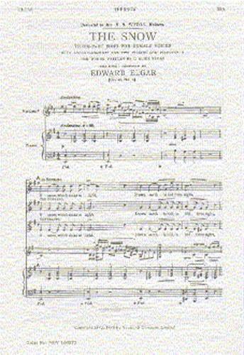 The Snow op. 26-1 - ELGAR - Partition - Chœur - laflutedepan.com