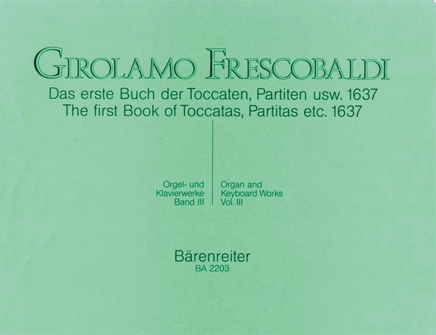 Orgel Und Klavierwerke. Band 3 - FRESCOBALDI - laflutedepan.com