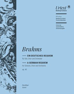 Johannes Brahms - Ein Deutsches Requiem Opus 45 - Partition - di-arezzo.fr