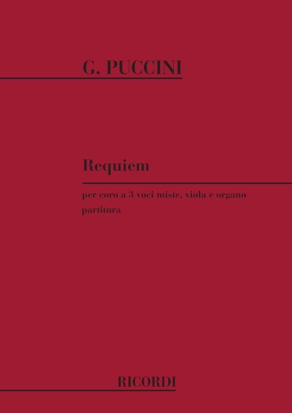 Requiem - PUCCINI - Partition - Chœur - laflutedepan.com