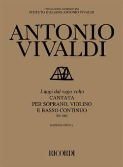 VIVALDI - Lungi Dal Vago Volto RV 680 - Partition - di-arezzo.co.uk