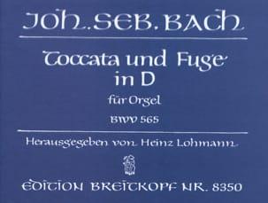 Toccata et Fugue Ré Mineur BWV 565 BACH Partition Orgue - laflutedepan