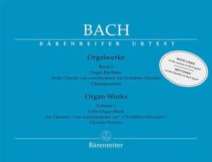 Orgelwerke. Band 1. Edition révisée BACH Partition laflutedepan