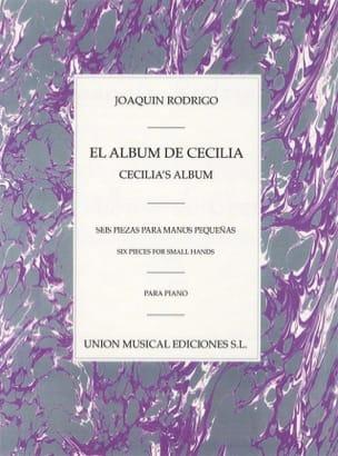 El Album De Cecilia - RODRIGO - Partition - Piano - laflutedepan.com