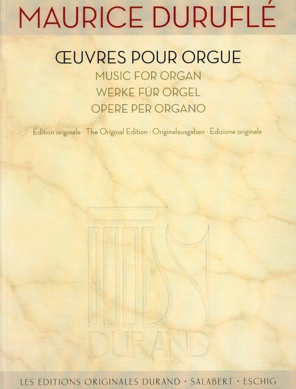 Oeuvres pour orgue - DURUFLÉ - Partition - Orgue - laflutedepan.com