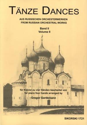 Tänze Aus Russischen Orchesterwerken Volume 2. 4 Mains laflutedepan