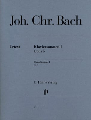 Sonates pour piano Opus 5 Johann Christian Bach Partition laflutedepan
