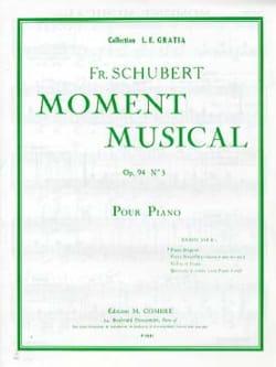 Moment Musical Op. 94-3 SCHUBERT Partition Piano - laflutedepan