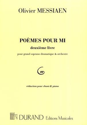 Poèmes Pour Mi - 2ème livre MESSIAEN Partition Mélodies - laflutedepan