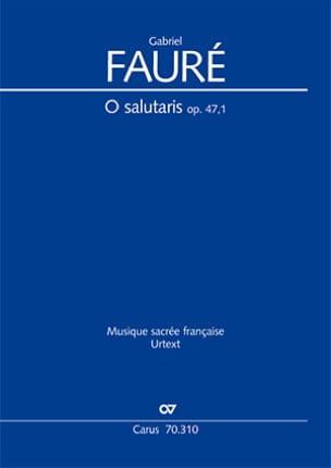O Salutaris Opus 47-1 FAURÉ Partition laflutedepan