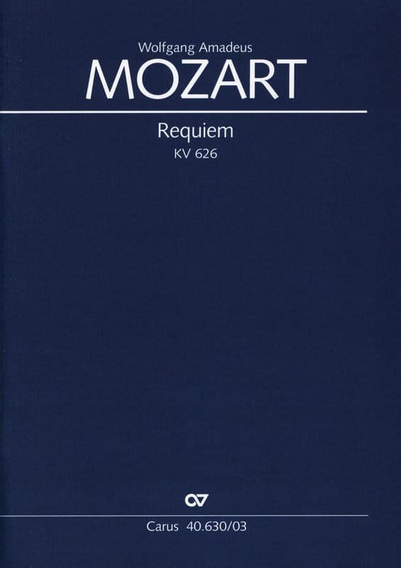 Requiem K 626 - MOZART - Partition - Chœur - laflutedepan.com