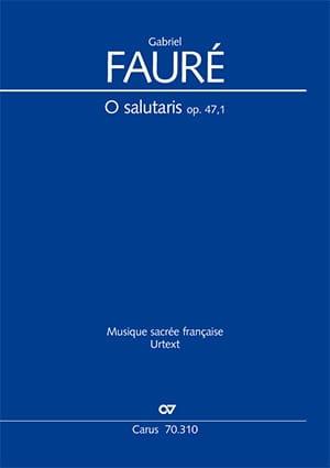 O Salutaris Opus 47-1 - FAURÉ - Partition - laflutedepan.com