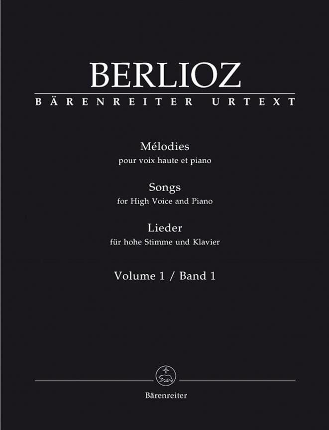 Mélodies Volume 1. Voix Haute - BERLIOZ - Partition - laflutedepan.com