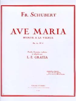 Ave Maria N°2 Opus 52-6. Voix moyenne SCHUBERT Partition laflutedepan