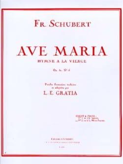 SCHUBERT - Ave María No. 2 Opus 52-6. Voz promedio - Partition - di-arezzo.es