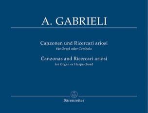 Canzonen Und Ricercari Ariosi 1-13 Andrea Gabrieli laflutedepan