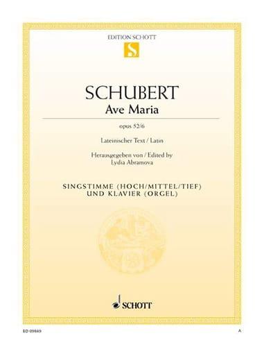 Ave Maria Opus 52-6 - SCHUBERT - Partition - laflutedepan.com