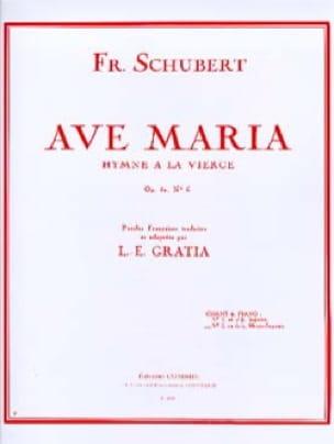Ave Maria N°2 Opus 52-6. Voix moyenne - SCHUBERT - laflutedepan.com