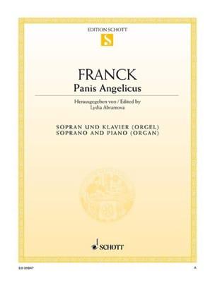 Panis Angelicus. Voix Haute FRANCK Partition Mélodies - laflutedepan