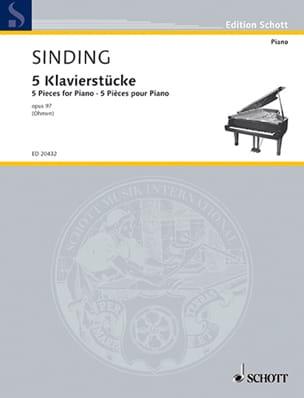 5 Klavierstücke Op. 97 Christian Sinding Partition laflutedepan