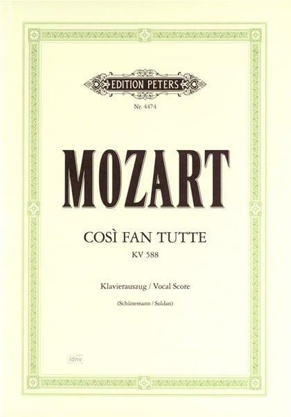 Così Fan Tutte K 588 - MOZART - Partition - Opéras - laflutedepan.com
