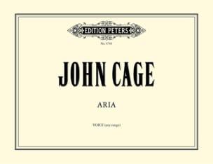 Aria. CAGE Partition Mélodies - laflutedepan