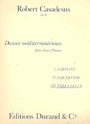 Tarentelle Op. 36. 2 Pianos CASADESUS Partition Piano - laflutedepan