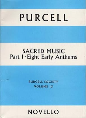 Sacred Music Part 1. Volume 13 - PURCELL - laflutedepan.com