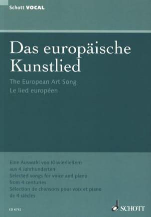 Das Europäische Kunstlied Partition Mélodies - laflutedepan