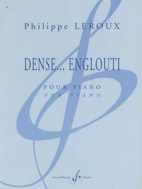 Dense... Englouti - Philippe Leroux - Partition - laflutedepan.com