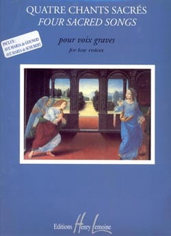 4 Chants Sacrés. Voix Grave Partition Mélodies - laflutedepan