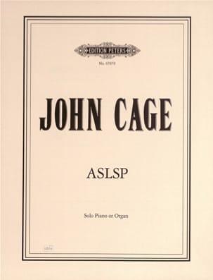 ASLSP CAGE Partition Piano - laflutedepan