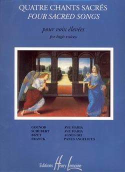 4 Chants Sacrés. Voix Haute Partition Recueils - laflutedepan