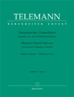 Harmonischer Gottesdienst Volume 1 Voix Moyenne TELEMANN laflutedepan