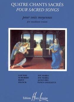 4 Chants Sacrés. Voix Moyenne Partition Mélodies - laflutedepan